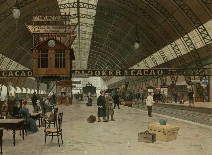 Perron Centraal Station Amsterdam, 1903