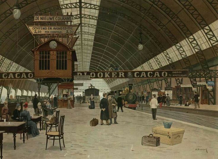 Perron Centraal Station Amsterdam, 1903