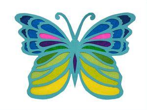 Schmetterling aus Papier basteln - buttinette Bastelshop