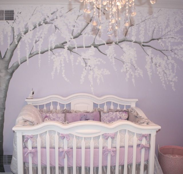 Pretty Wall Mural Baby Girl Nursery