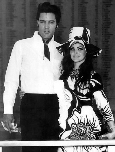 Elvis and Priscilla visit the USS Arizona- Pearl Harbor while on vacation in…