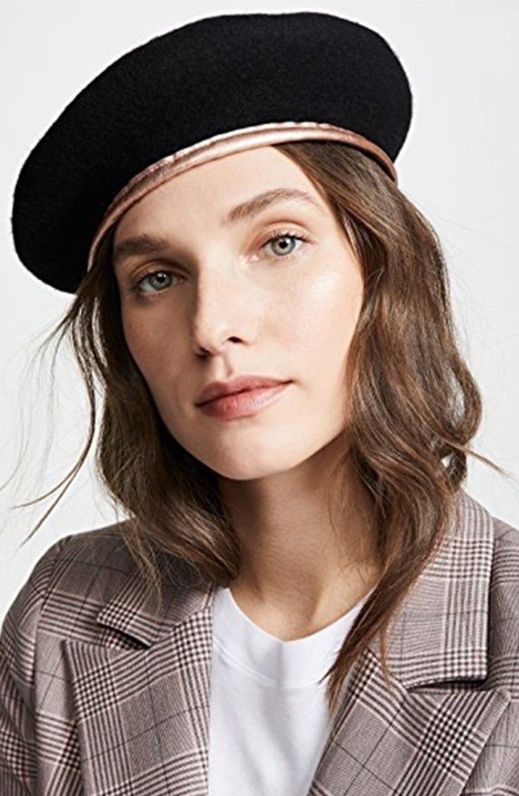 0a4ac171c87b7 This black beret with gold trim makes our list of top chic accessories for  winter! See what else is on the list  capes