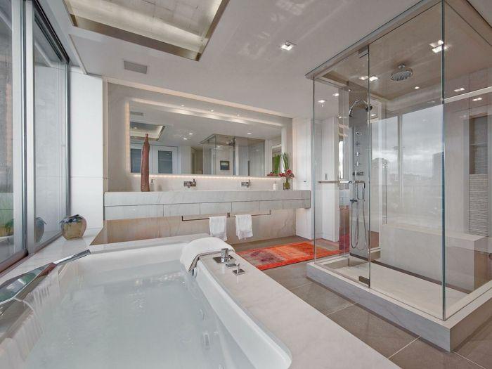 G r lmesi gereken 15 modele douche italienne pini modele for Cout d une salle de bain a l italienne