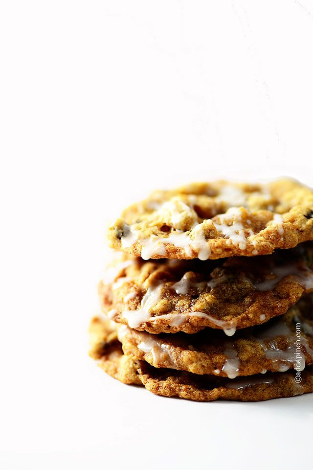 Iced Oatmeal Cookies Recipe - Cooking | Add a Pinch