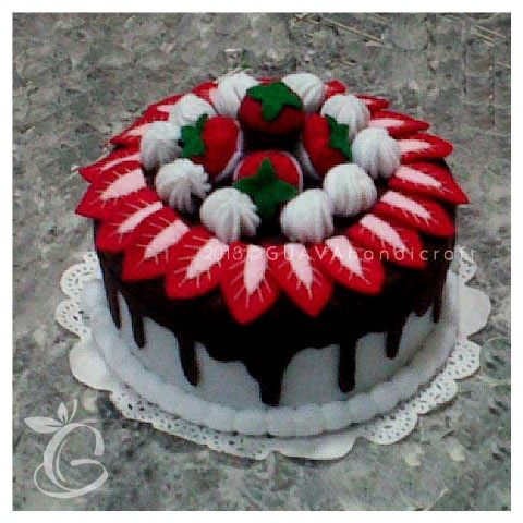 Choco Vanilla Strawberry Cake | decorated jar | toples flanel