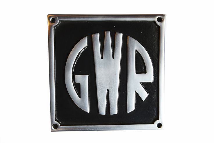 GWR Railway Sign Polished. Cast from solid aluminium this memorabilia sign is then powder coated and hand polished, giving an exquisite finish. Ideal for any man shed.