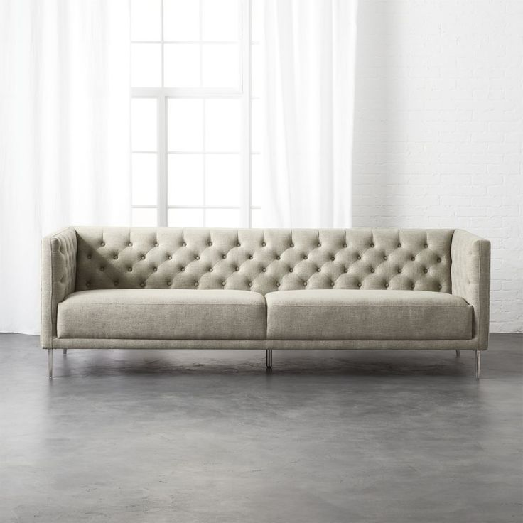 Savile Grey Tufted Sofa