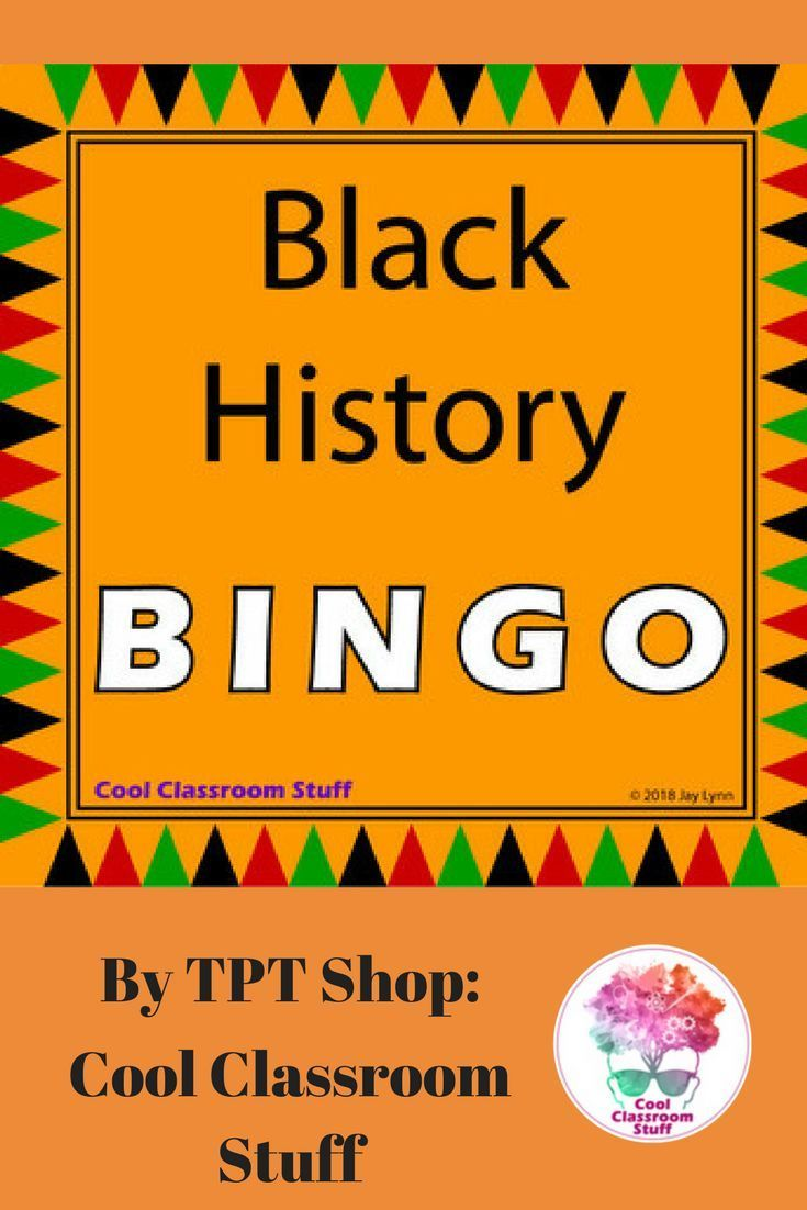 If you are looking for a fun Black History Month activity, here is a Bingo game just for that.