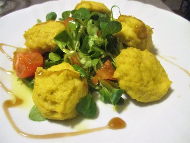 FORNELLI IN FIAMME: DISKS OF BAKED CAULIFLOWER WITH MAIS FLOUR - Disch...