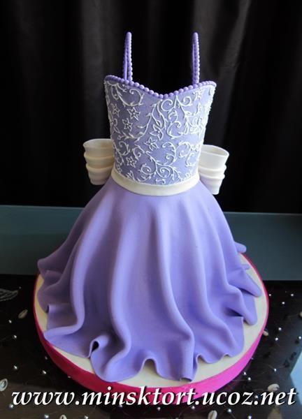 Торты платье