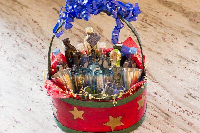 Liquor Gift Basket Ideas   eHow
