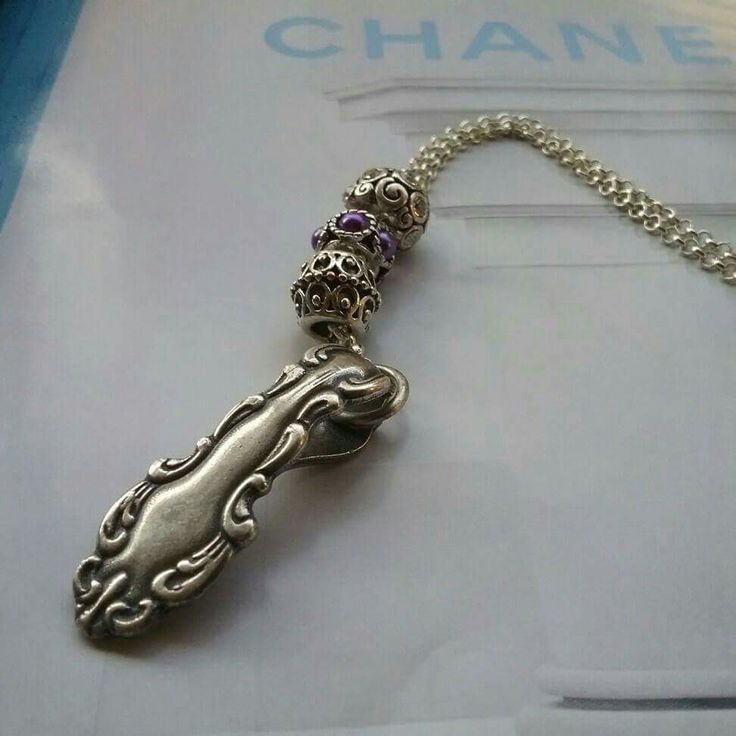 Spoon end necklace  #spoons #necklace #silverspoon