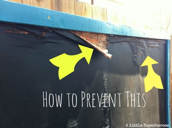 Planning on adding an outdoor chalkboard to your backyard this summer? Read this post first.