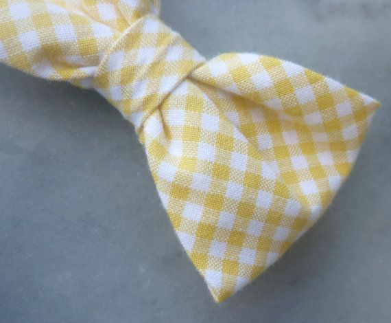 Another yellow gingham tie (@Stephanie Sexton)