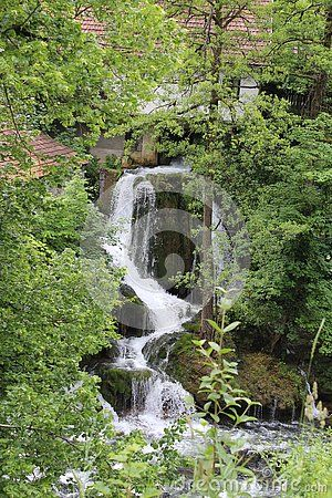 Waterfall at village of Sunj (Croatia)