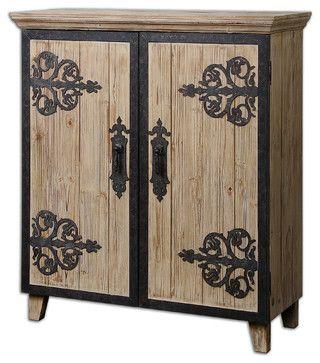 Abelardo Rustic Console Cabinet traditional bathroom vanities and sink consoles