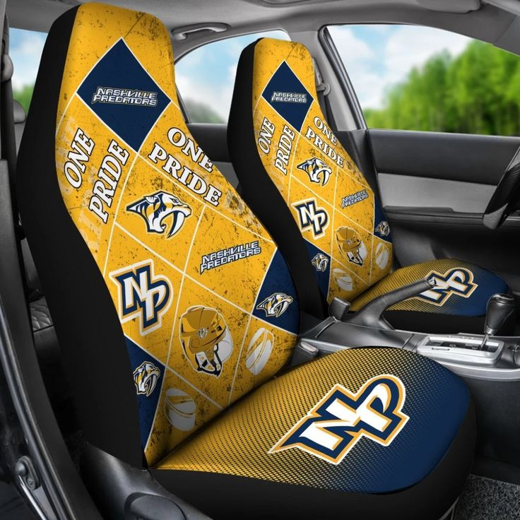 Pride Flag of Pro Nashville Predators Car Seat Covers