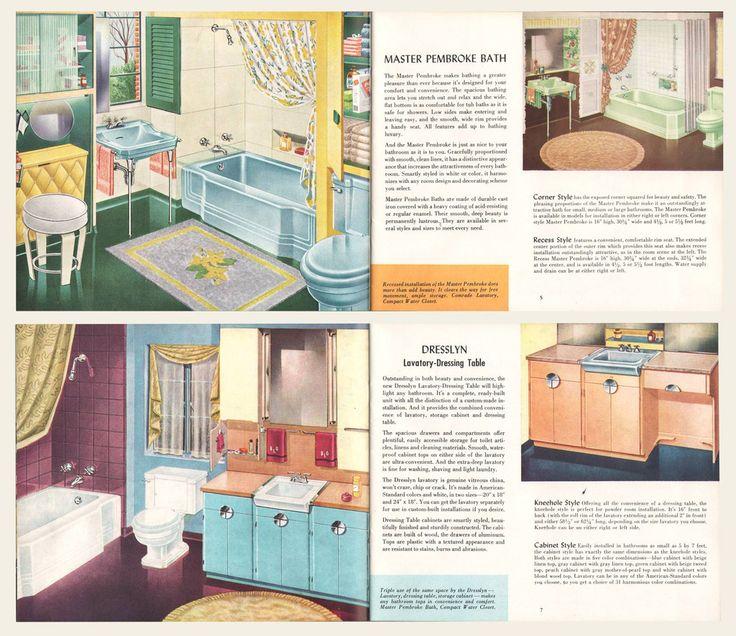 1950 American Standard Plumbing and Heating Fixtures Brochure ...