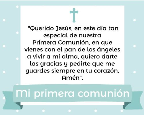 frases para primera comunion Jesus