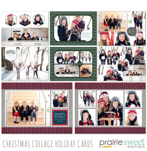 Christmas Collage Holiday Card Collection : Prairie Sweet Boutique ...