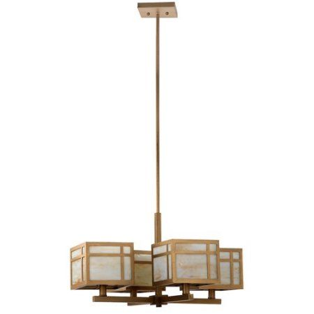 Safavieh Craftsman 4-Light Shaded Chandelier, Gold