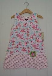 KJ011 Romantisk kjole hvit 2-3 år