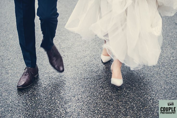 The bride and groom strut their stuff as newlyweds. Weddings at Tulfarris Hotel & Golf Resort, photographed by Couple Photography.