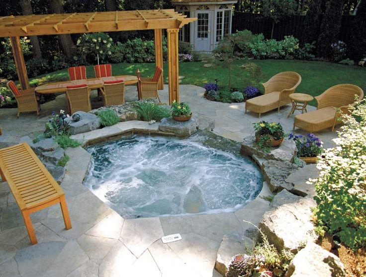 Betz Inground Spa Backyard Pinterest Pools
