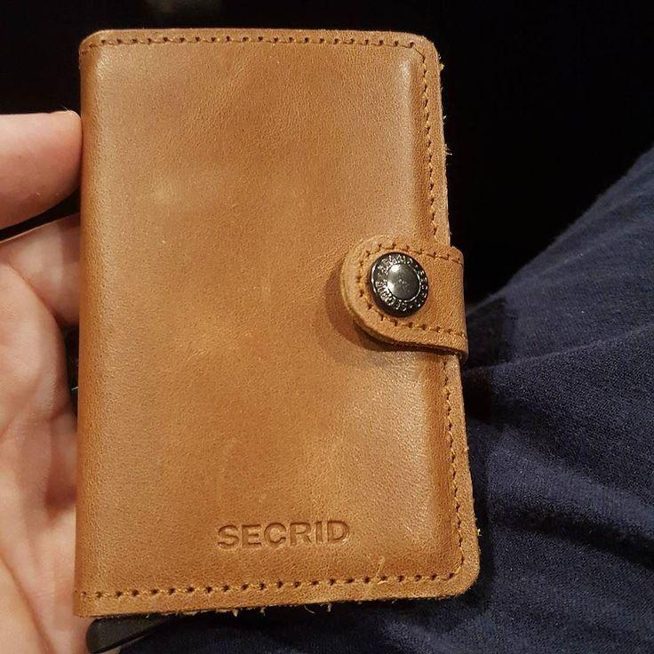 My new @secridofficial wallet vintage cognac leather from @la_couronne_du_comte
