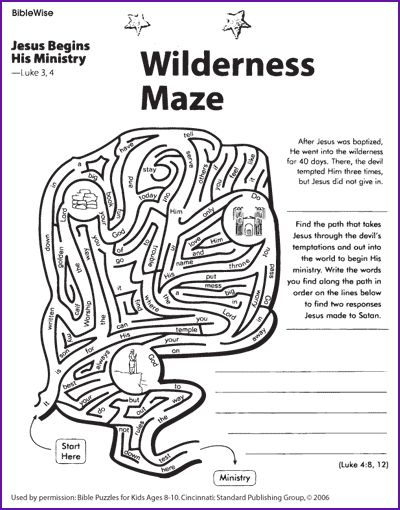 65 best bible activity worksheets images on Pinterest Bible - best of coloring page jesus in the desert
