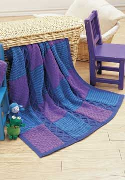 Free Pattern: Cables and Blocks Afghan Knitting Pattern