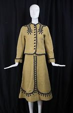 1940s 1950s vintage incredibly rare LOLA PRUSAC Hermes emb post WWII skirt suit