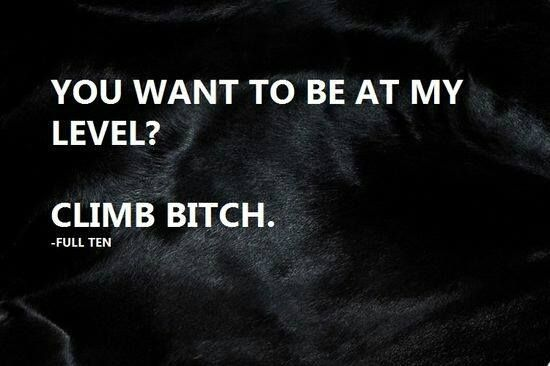 You couldn't climb high or fast enough to reach me, bitch.
