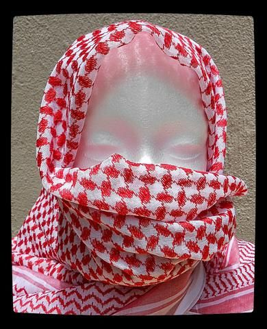 Keffiyeh, Shemagh, Palestinian Scarf (Red and White) from www.lonesoldierclothing.co.za