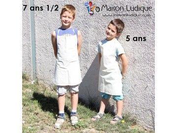Tablier de cuisine pour enfant en coton à personnaliser