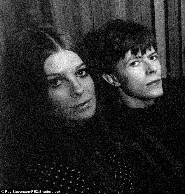 The relationship that inspired one of Bowie's biggest hits: David Bowie pictured in 1969 at Clareville Grove, South Kensington house of Hermione Farthingale - now Hermione Frankel - who was the muse for Life On Mars