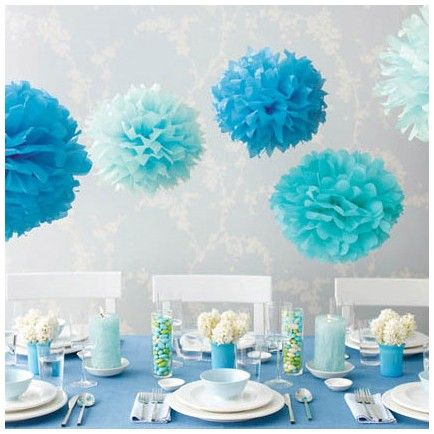 Spring high tea party decor - blue and white (fav colours) #confettimagspring
