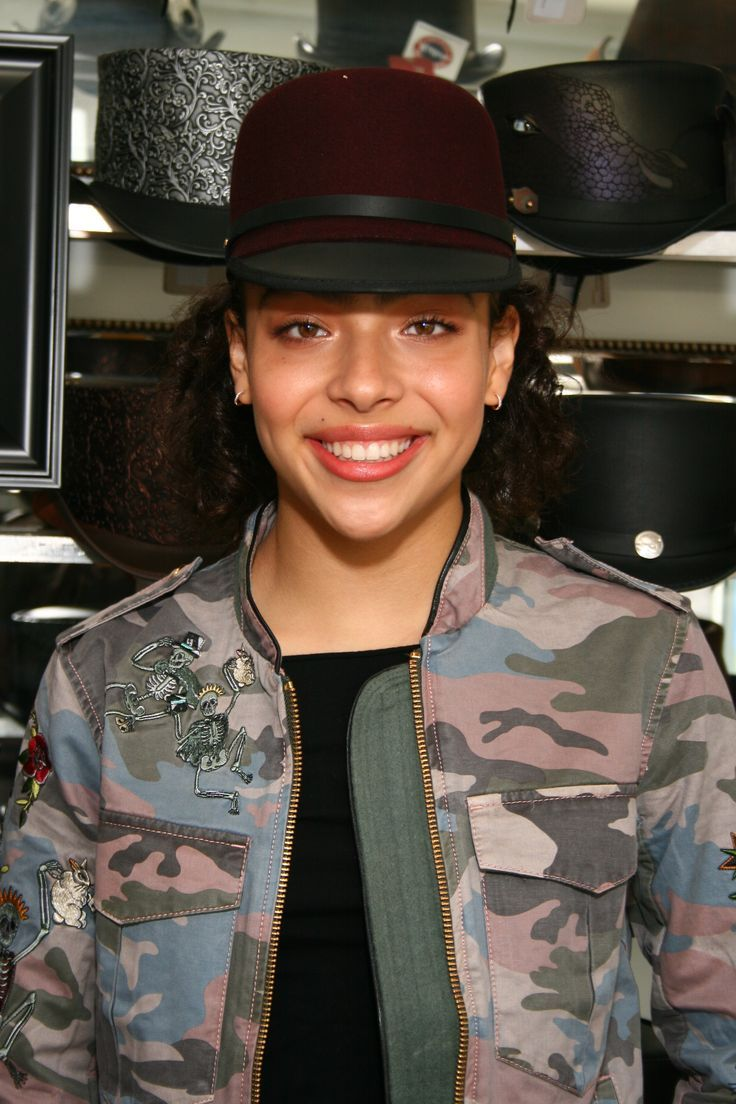Allegra Acosta wearing our wonderful solair hats..