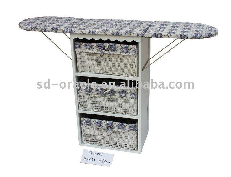 De madeira tábua de passar em gabinete, Mesa de engomar, Móveis para casa