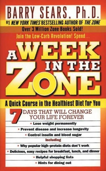 A Week In The Zone In 2018 Products Pinterest Diet Diet Books