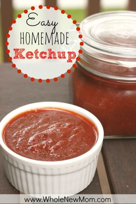 """With this Easy Ketchup Recipe you can ditch the High Fructose Corn Syrup, loads of sugar, and suspicious """"natural flavors"""" of the store bought brands."""