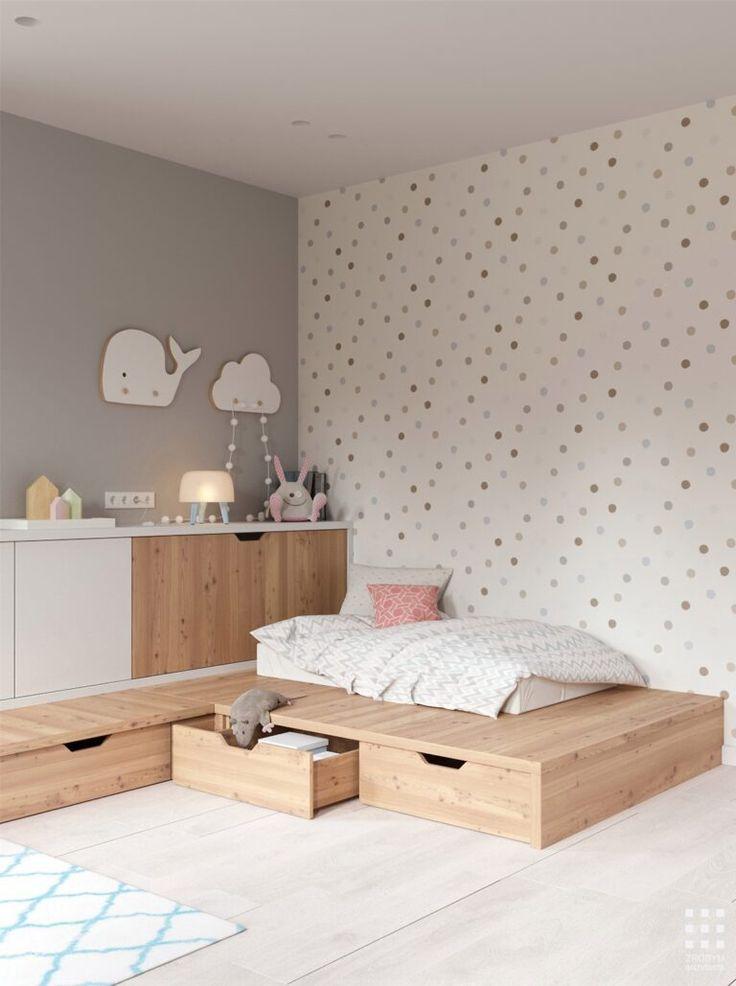 View the full picture gallery of Sosnovaya Baby Bedroom, Baby Boy Rooms, Baby Room Decor, Kids Bedroom Designs, Baby Room Design, Toddler Rooms, Girl Room, Kids Bedroom Wallpaper, Couple