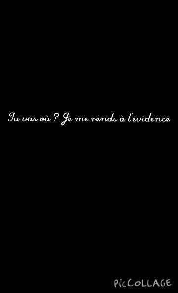 Je me rends à l evidence....