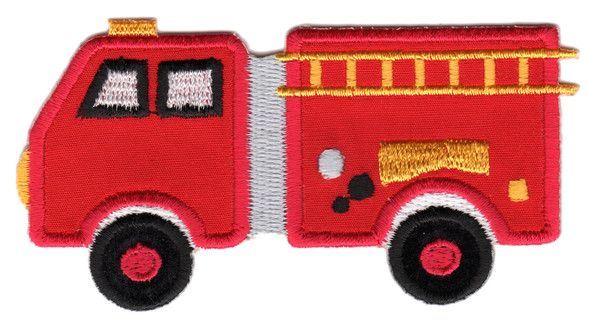 "Fire Truck Iron-On Applique Patch -  Size: 2"" x 4"" (5 x 10 cm) - $5.49"