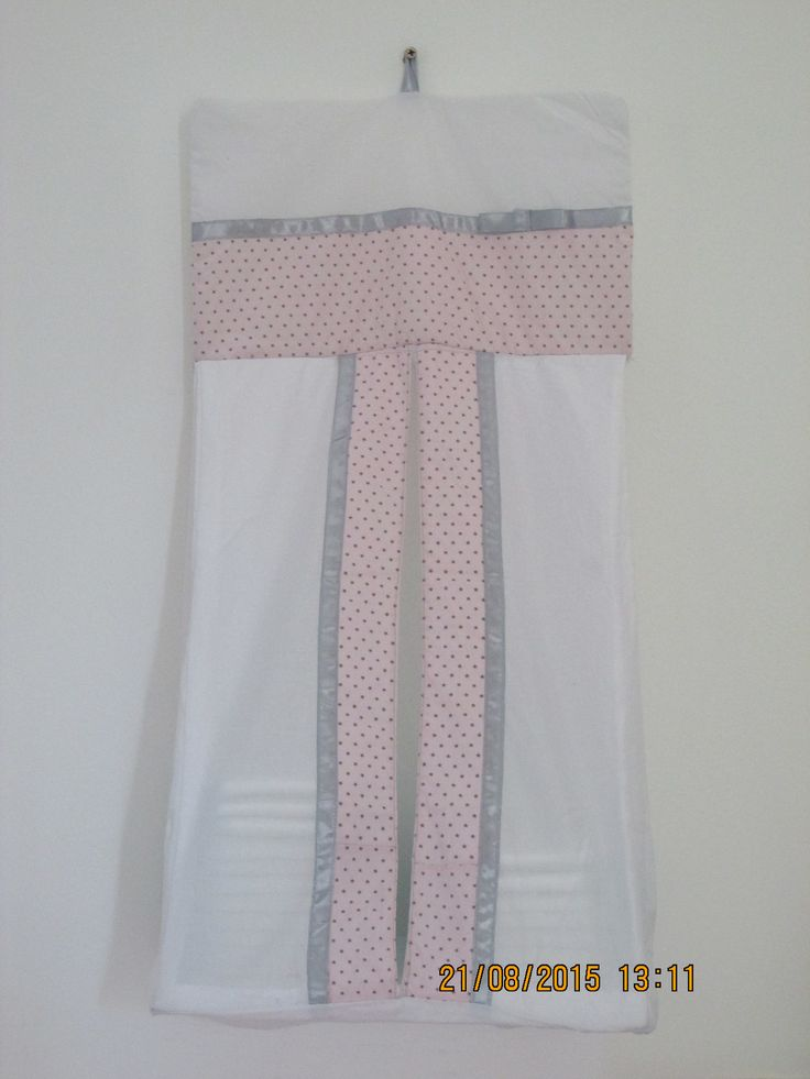 Pink and Grey diaper stacker