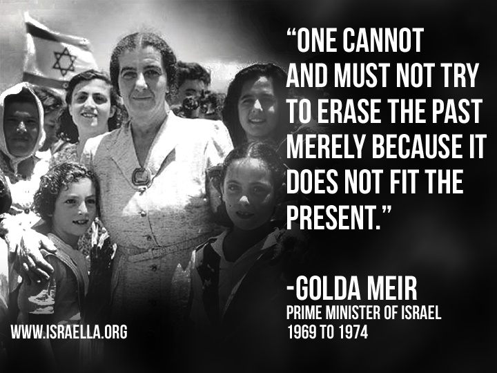 Wise words from Prime Minster Golda Meir. Golda Meir was a great woman and respected around the world!