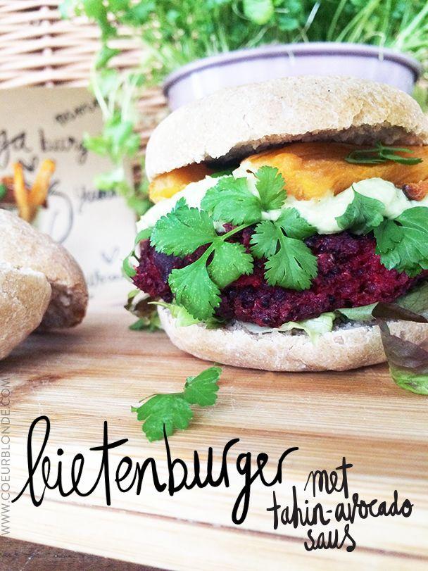 recept vega bietenburger met zoete aardappel