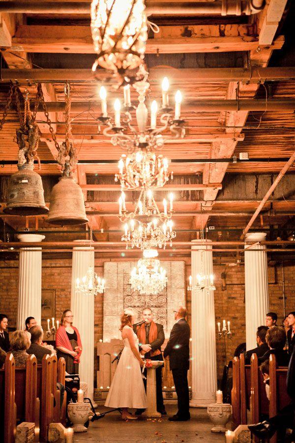 industrial, vintage wedding venue.