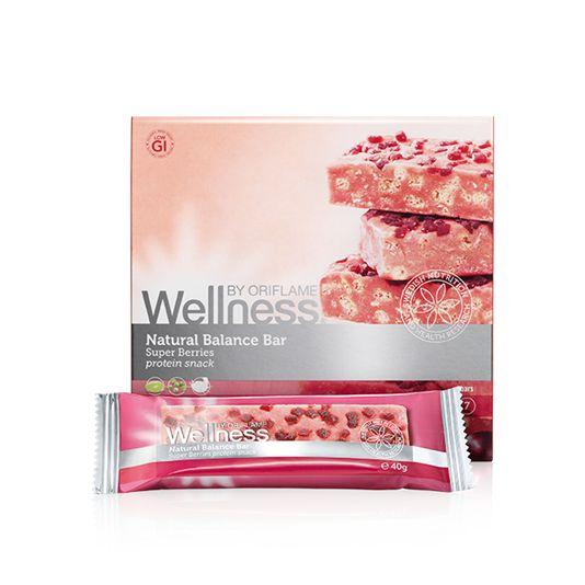 Идеальный и полезный источник энергии для тех, кто следит за своим здоровьем. С полезными ягодами граната, асаи и черники, богатыми антиоксидантами, которые помогают укреплять здоровье. В упаковке 7 батончиков. Снижает чувство голода и потребность в сладком, обеспечивает оптимальное натуральное питание благодаря рациональному сочетанию ингредиентов. Содержит 3 источника протеина (соя, горошек и молочная сыворотка) и 4 злака, богатые клетчаткой (ячмень, овес, пшеница и рис)