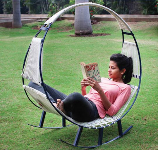 This Hammock-Rocking Chair Hybrid is the Epitome of Relaxation — Design News   Apartment Therapy